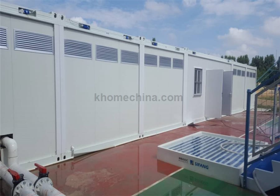 portable toilet and shower buildings