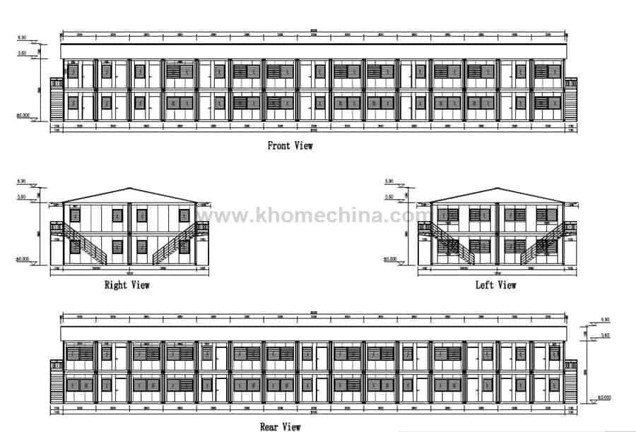 container accommodation units layout