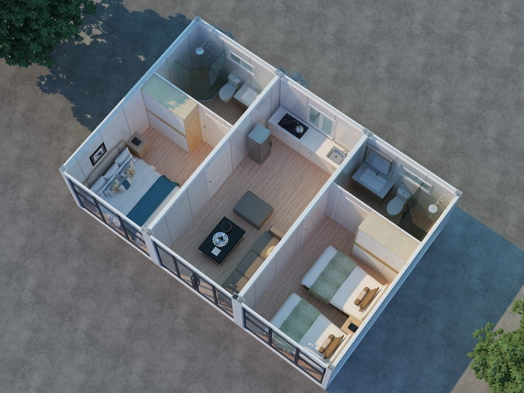 3 bedroom container house plans